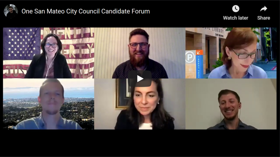 [VIDEO] 2020 One San Mateo City Council Candidates' Forum